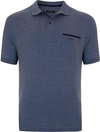 Pierre Cardin Polo com bolso Azul Jeans Live M