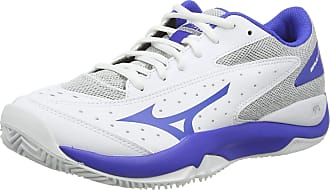 Mizuno Womens Wave Flash CC Tennis Shoes, White (Wht/Dazzlingblue/Hrise 25), 5 (38 EU)