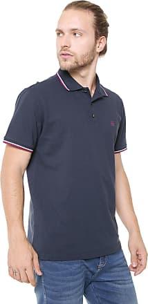 d6c61b7e73 John John Camisa Polo John John Reta Lines Azul-Marinho