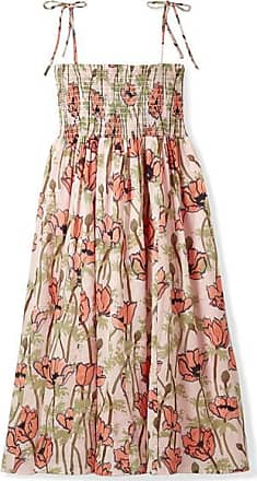 f6531f2ce1a Tory Burch Smocked Floral-print Cotton-voile Midi Dress - Pink