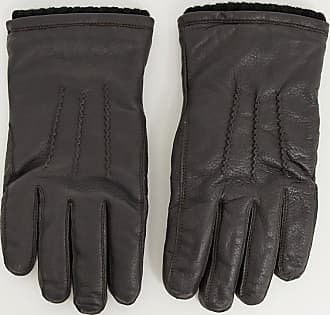 French Connection classic leather gloves-Brown