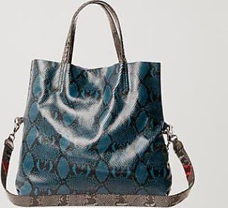 Animale Bolsa De Couro Shopping Bag Recortes Snake Azul - U