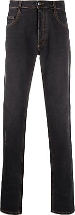 Missoni Calça jeans reta com efeito destroyed - Preto