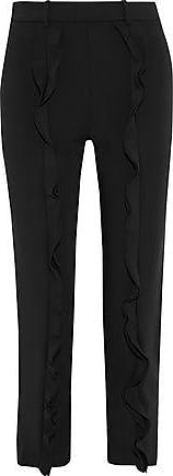 Opening Ceremony Opening Ceremony Woman William Ruffled Cady Slim-leg Pants Black Size 12