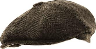 Hawkins Mens Herringbone Baker Boy Caps Newsboy Hat Country Style Flat Cap (Dark Grey, 60cm)