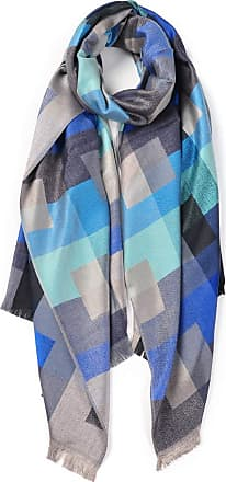 Your Dezire Cool Grids Patterned Printed Scarf Large Shawl Winter Scarf Celebrity Style Wraps (Blue)