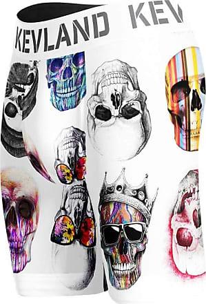 Kevland Underwear cueca boxer long leg kevland colored skulls fundo branco (1, M)