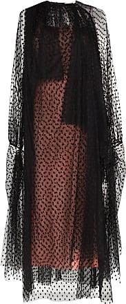 Christopher Kane Vestido de tule com poás e franzidos - Preto