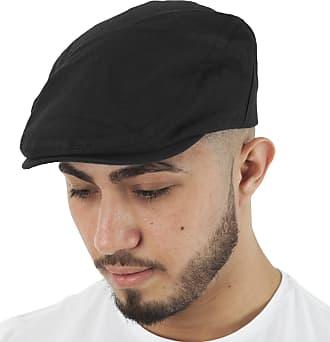 TOSKATOK Mens Brushed Cotton Flat Cap-Black