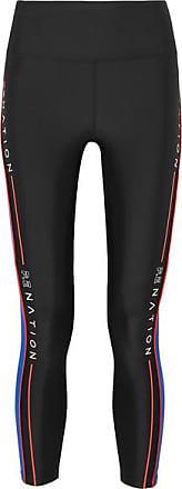 P.E Nation Three Point Striped Stretch Leggings - Black