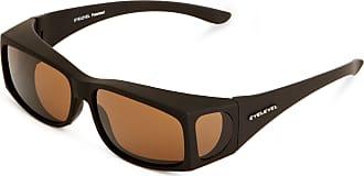 Eyelevel Overglass Slim Polarised Mens Sunglasses Brown One Size