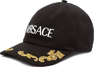 Versace Logo-embroidered Cotton Baseball Cap - Mens - Black White
