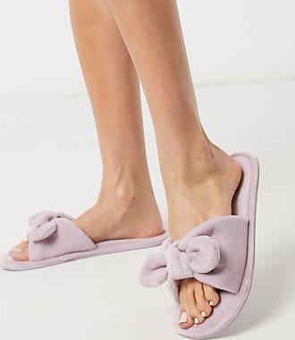 Hunkemöller velour knit slipper in lilac-Purple
