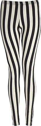 ZEE FASHION Womens Ladies Vertical Striped Leggings Pants (Stripe, S/M (8-10 UK))