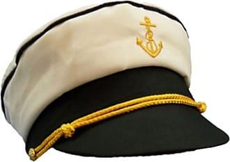 Islander Fashions Mens Marine Captain Sailor Peaked Hat Unisex Book Week Fancy Dress Accessory Hat One Size