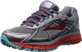 Brooks Womens Adrenaline ASR 12 GTX Running Shoes Grey Grau (Anthracite/Hibiscus/Capri) 4
