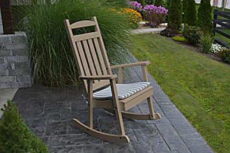 A & L Furniture A & L Furniture Poly Classic Rocker Chair, Weathered Wood