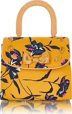 Ruby Shoo Santiago Ochre Mustard Yellow Floral Top Handle Shoulder Bag, One size