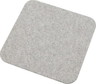 Hey-Sign Tischset 4er Set mit abgerundeten Ecken - grau hellmeliert/Filz in 5mm Stärke/LxBxH 40x40x0,5cm/4 Stück