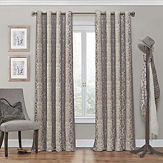 Eclipse Blackout Curtains for Bedroom - Nadya 52 x 95 Insulated Darkening Single Panel Grommet Top Window Treatment Living Room, Linen