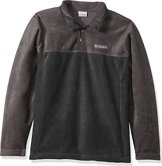 Columbia Mens Steens Mountain Half Snap Fleece Jacket, Charcoal Heather, Shark, US Large Tall