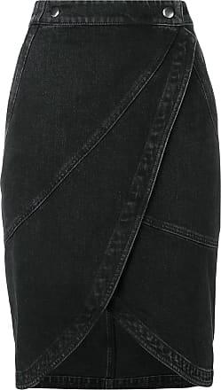 Givenchy Saia jeans midi - Preto