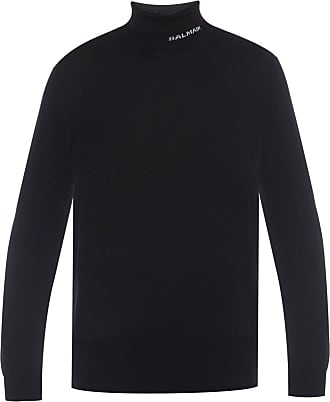 Balmain Turtleneck Sweater Mens Multicolor