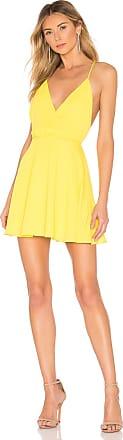 Superdown Jaydie Wrap Dress in Yellow