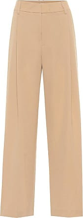 Vince High-rise crêpe wide-leg pants