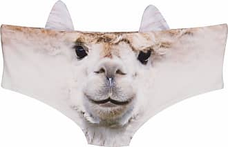 kukubird Womens Lingerie Squirrel Face Fun New Animal Face Panties with Little Ears