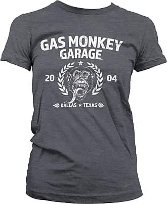 Gas Monkey Garage Officially Licensed Emblem T-Shirt (Dark-Heather), XXL