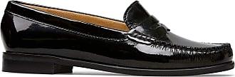 Van Dal Womens Hampden X Wide Fit Black Patent Penny Loafer Flats, Size 42 EU