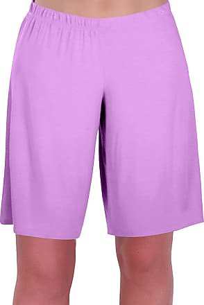 Eyecatch Star Ladies Jersey Relaxed Comfort Elasticized Flexi Stretch Womens Shorts Plus Sizes Lilac Size 12/14