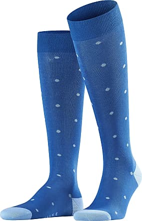 Falke Men Dot Knee-Highs - 88% Cotton, Blue (Paris Blue 6057), UK 5.5-8 (Manufacturer size: 39-42), 1 Pair