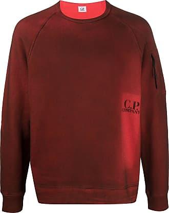 C.P. Company Moletom com estampa de logo - Vermelho