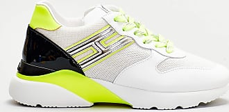 Hogan sneakers active one dettagli fluo - bianco