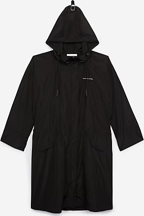 The Kooples Long black parka with contrasting logo - WOMEN