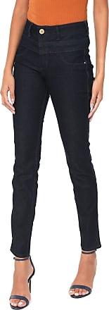 Lança Perfume Calça Jeans Lança Perfume Slim Lisa Azul-marinho