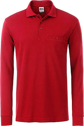 2Store24 Mens Workwear Polo Pocket Longsleeve in red Size: 6XL