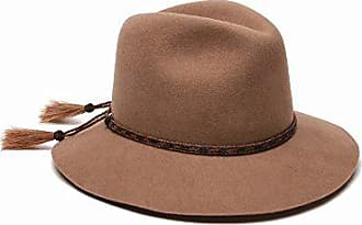 ále by Alessandra Womens Cavalo Adjustable Felt Hat with Horse Tail Trim, Taupe, Adjustable Head Size