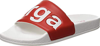 Superga Unisex Adults 1908-puu Beach & Pool Shoes, White (White-Red A06), 5.5 UK