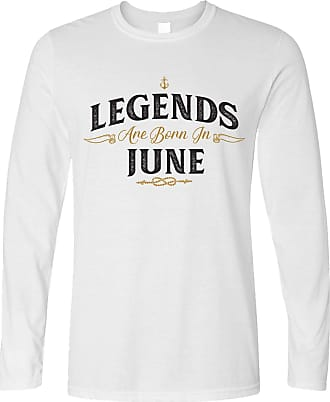 Tim And Ted Birthday Long Sleeve Legends are Born in June White Small