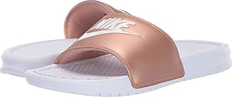 43cbf04de2a1 Nike Benassi JDI Slide (White White Metallic Red Bronze) Womens Sandals