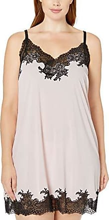 Natori Womens Enchant Solid Slinky Chemise with Lace