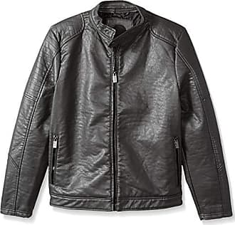 Urban Republic Mens Buffalo Pu Jacket, darkcharcoal, XL
