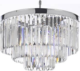 Gallery T40-450 9 Light 3 Tier Crystal Chandelier Chrome Indoor