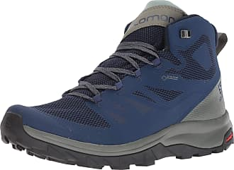 Salomon Mens Shoes Outline Mid GTX B Mountain, Multicolor (Medieval Blue/Castor Gray/Green Military), 11.5 UK