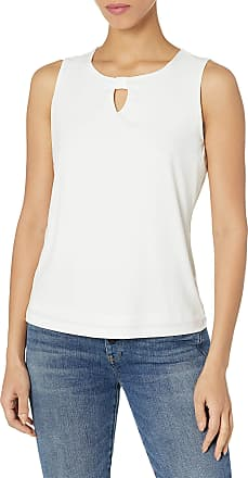 NINE WEST Womens Plus Size Solid Knit Cami with Front Neck Straps