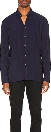 Zanerobe Stripe Rayon Long Sleeve Shirt in Blue
