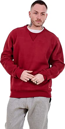 JD Williams Mens Fleece Sweatshirts Pullover Top Crew Neck Long Sleeve M to XXL Wine